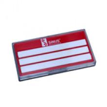 5-80-200 Этикетка оцинкованная, красная